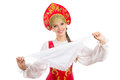 Beautiful  Smiling Russian Girl In Folk Costume Royalty Free Stock Photo - 71570485