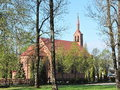 Old Red Church, Lithuania Royalty Free Stock Photo - 71583235