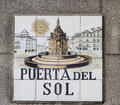 Madrid Street Sign Royalty Free Stock Photography - 71584557
