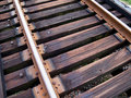 Train Tracks Up Close Royalty Free Stock Photos - 7160508