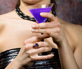 Woman With Glass Of Wine Royalty Free Stock Photo - 7163445