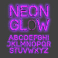 Neon Glow Alphabet Royalty Free Stock Photography - 71625967