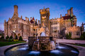 Fountain And Casa Loma At Twilight, In Midtown Toronto, Ontario. Stock Photography - 71633272