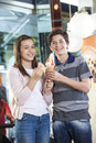 Brother And Sister Having Vanilla Ice Cream Royalty Free Stock Images - 71652499