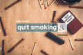 Quit Smoking Web Search Box Glossary Term Stock Photos - 71653543