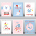 Baby Shower Invitation Card. Vector Royalty Free Stock Photos - 71655338