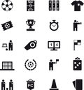 Set Of Soccer And Football Web Icons Royalty Free Stock Photo - 71661885