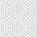 Seamless Vector Pattern. Black And White Geometrical Background With Hand Drawn Circles, Cross And Lines. Simple Design. Royalty Free Stock Image - 71682706