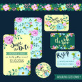 Spring Flower Wedding Stationery Royalty Free Stock Photos - 71697308