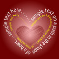 Heart Made By Text Stock Photos - 7175783