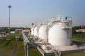 Fuel Store Tanks Of Refueling Complex Stock Photo - 71708730
