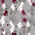 Patchwork Seamless Abstract Pattern  Grey Background. Stock Photo - 71709310