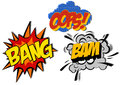 Retro Cartoon Explosion Pop Art Comic Set. Vector Stock Photography - 71713172