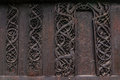 Detailed Wall Of The Urnes Stave Church, Norway Royalty Free Stock Image - 71714866