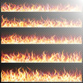Set Of Realistic Fire Flames. EPS 10 Stock Photo - 71727920