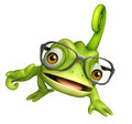 Cute Chameleon Funny Cartoon Character Royalty Free Stock Photography - 71759127