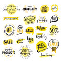 Set Of Hand Drawn Watercolor Labels And Badges For Sale Stock Photo - 71768090