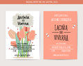 Wedding Invitation Card With Romantic Flower Templates Royalty Free Stock Image - 71797956