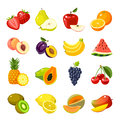 Set Of Colorful Cartoon Fruit Icons Royalty Free Stock Images - 71802789