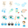 Vision Correction Icons Set, Cartoon Style Stock Images - 71803724