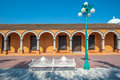 Streets Of Mexican Colonial Town Tlacotalpan, UNESCO World Herit Stock Photo - 71820010