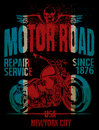 Motorcycle Typography; Vintage Motor; T-shirt Graphics; Vectors Stock Photography - 71828022