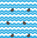 Abstract  Seamless Wave Stripes Patterns With Shark Fin,Repeating Texture Tiles Vector Design Stock Images - 71836994