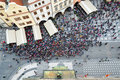 Top View Of Tourist Crowd In Old Town Square In Prague Royalty Free Stock Photo - 71839515
