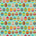 Seamless Easter Pattern With Painted Eggs. Royalty Free Stock Photography - 71857637