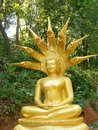 Buddha With Dragonshead In Tha Ton / Thailand At The Frontier To Myanmar Royalty Free Stock Photos - 71863418