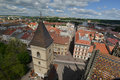 Top View Kosice From Cathedral Tower Stock Photography - 71863592