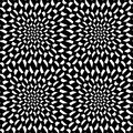 Vector Modern Abstract Geometry Psychadelic Pattern. Black And White Seamless Geometric Crazy Background Royalty Free Stock Images - 71874199