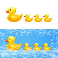 Rubber Duck With Ducklings. Vector Stock Images - 71876934
