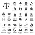 Law And Police Icon Set Stock Photo - 71893150