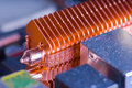 Copper Heat Pipe With Cooling Fins Stock Photos - 7193023