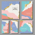 Set Of Artistic Colorful Universal Cards. Brush Textures. Royalty Free Stock Photos - 71901248