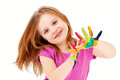 Smart Child Playing With Colors Stock Images - 71917174