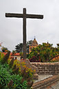 Carmel By The Sea, Mission, Mission San Carlos Borromeo, Catholicism, Garden, Flowers, California, Church, Architecture, Cross Stock Photography - 71917672