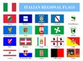 Italian Regional Flags Royalty Free Stock Image - 71918646