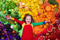Healthy Fruit And Vegetable Nutrition For Kids Royalty Free Stock Photo - 71927995