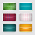 Background Set - Vector Retro Paper Colorful Cards Royalty Free Stock Photo - 71948295