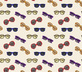 Vector Glasses Frame Seamless Pattern Background Royalty Free Stock Photos - 71952538