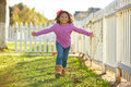 Kid Girl Toddler Playing Running In Park Outdoor Stock Image - 71953001