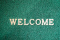 Close-up Door Mat With Welcome Word Royalty Free Stock Photo - 71967685