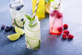 Variety Of Cold Drinks In Bottles Stock Image - 71983481