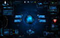 Hud Interface Global Network Connection Tech Innovation Concept Element Template Design Royalty Free Stock Image - 71989586