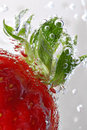 Strawberry Detail With Bubbles Stock Photos - 725163