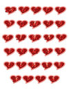 Hearts Letters Royalty Free Stock Photo - 727905