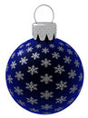 Isolated Blue Christmas Ornament Royalty Free Stock Photography - 7201297