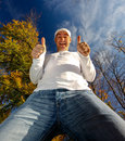 Man With Two Thumbs Up Royalty Free Stock Image - 7203266